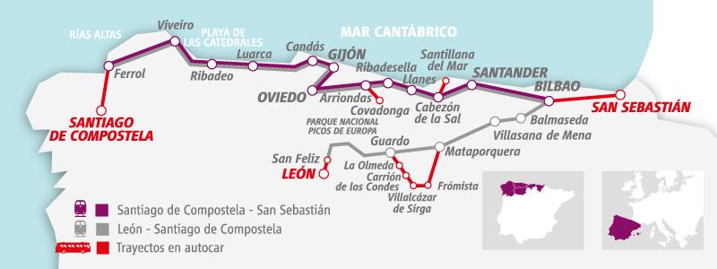 Route Map El Transcantabrico